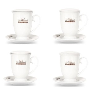 Sir William's Royal Taste kubek 400 ml - 4 sztuki, mocna porcelana