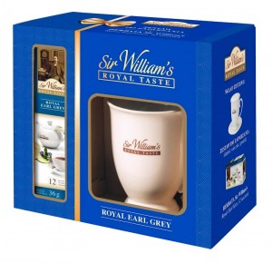 Sir William's Royal Taste Earl Grey 12x2,5g i kubek 400 ml do parzenia herbaty