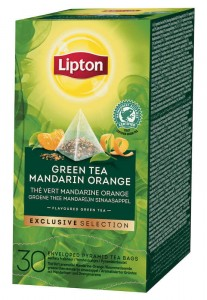 Lipton Exclusive Selection Green Mandarin Orange 30x1,8g - herbata zielona cytrusowa