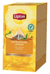 Lipton Exclusive Selection Refreshing Lemon 25x1,7g - herbata czarna z cytyną w piramidkach
