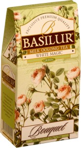Basilur Bouquet White Magic Green kartonik 100g - herbata turkusowa, mleczny ulung