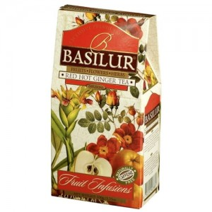 Basilur Fruits Infusions Red Hot Ginger 100g - herbata owocowa imbirowa