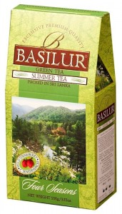 Basilur Four Seasons Summer Tea 100g -  zielona herbata z poziomkami i papają