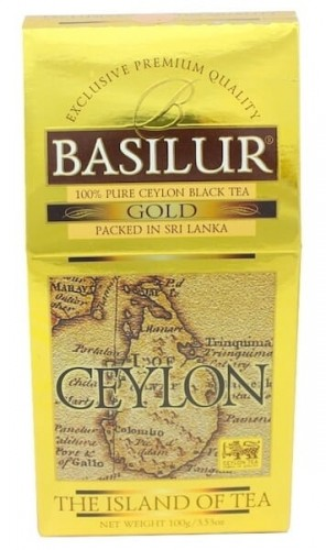 Basilur The Island of Tea Ceylon Gold czarna herbata w  kartoniku 100g